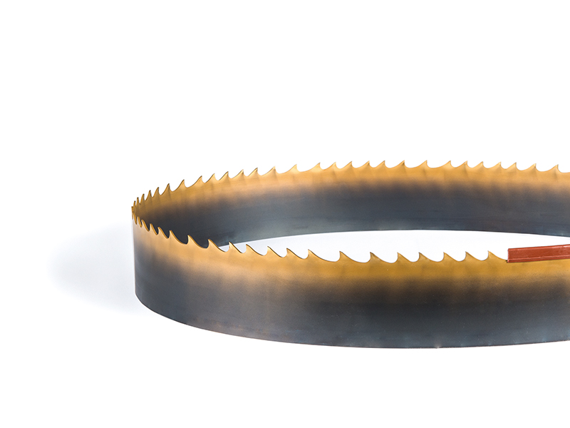 Picture of the TiN coated Bi-Metal band saw blade