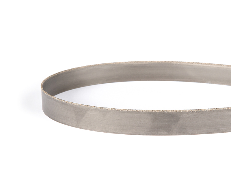 Picture of a tungsten grit continuous band saw blade