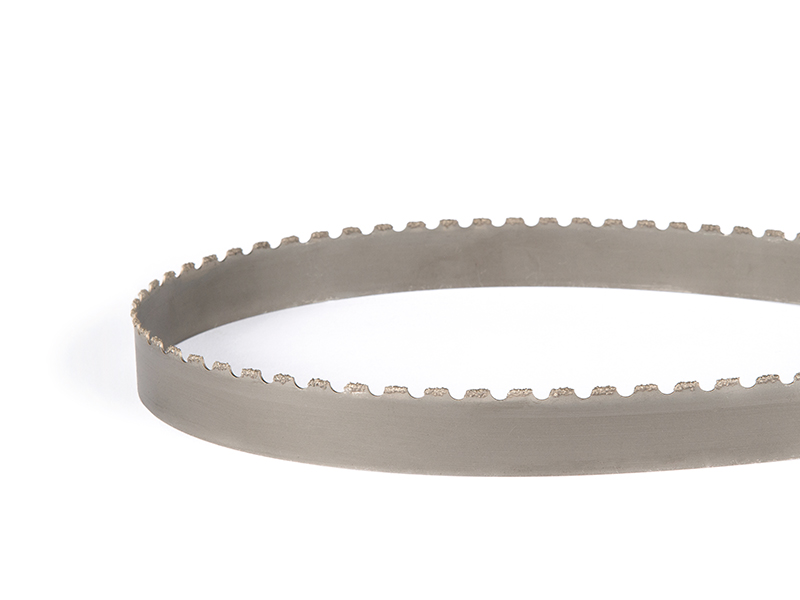 Picture of a tungsten grit segmented band saw blade